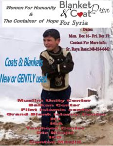 Winter Coats and Blankets drive for Syrians